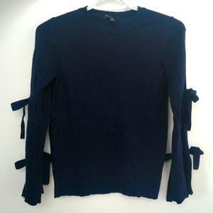 Banana Republic Navy Tie-Sleeve Sweater